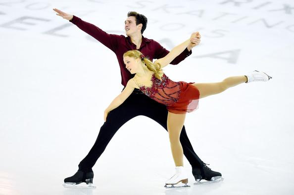 Seguin/Bilodeau at the Junior Grand Prix Final  (David Ramos/Getty Images Europe)
