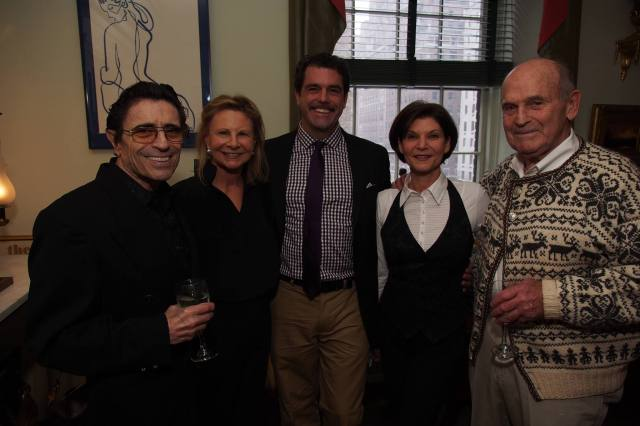 Doug Webster (center) at the Ice Dance International launch party at Dick Button's home
