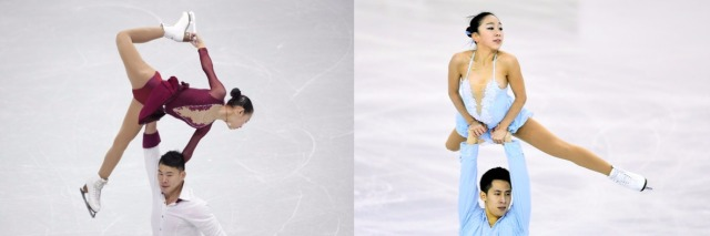 Peng/Zhang and Sui/Han  (Chung Sung-Jun/Getty Images AsiaPac; David Ramos/Getty Images Europe)
