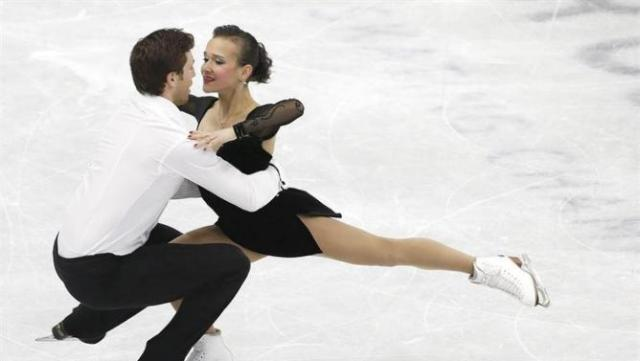Luba and Dylan at Four Continents (EFE/EPA/Jeon Heon-Kyun)