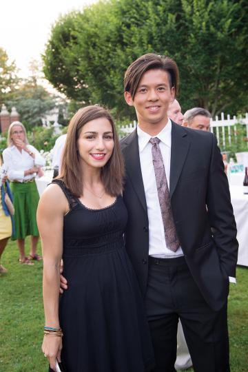 Castelli/Tran at a Rhode Island event
