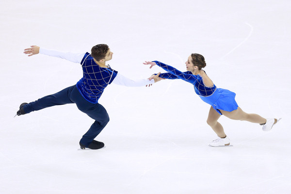 "Della Monica/Guarise:  ""The guys didn't skate their best here.""  (Xiaolu Chu/Getty Images AsiaPac)"