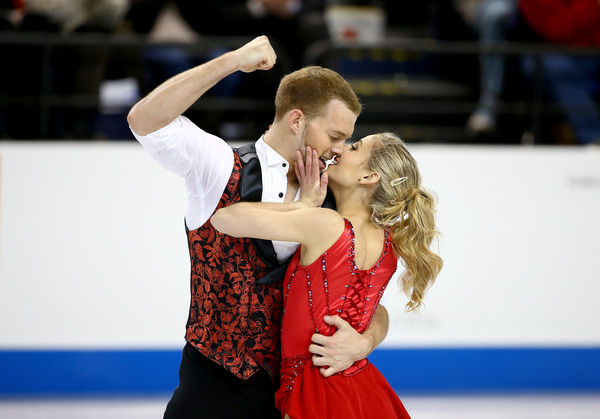 Kayne/O'Shea: Working on a throw quad Salchow (Streeter Lecka/Getty Images North America)