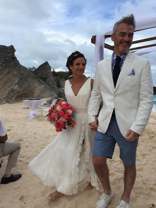 A photo of Meagan's wedding, tweeted by Eric Radford