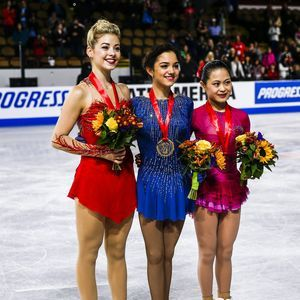 Ladies-podium