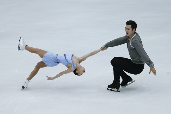 Wang/Wang: Lovely in the short program (Lintao Zhang/Getty Images AsiaPac)